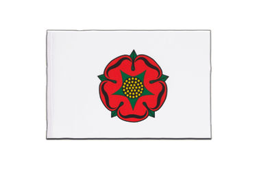 Fanion Lancashire rose rouge - 15 x 22 cm
