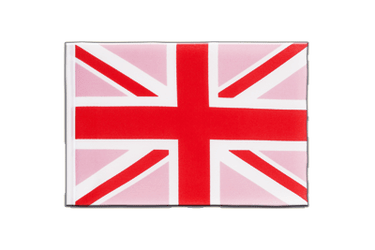 Fanion Union Jack rose - 15 x 22 cm