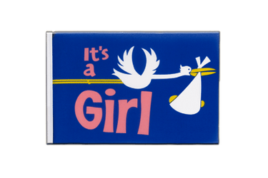 It's a girl Little Flag 6x9""