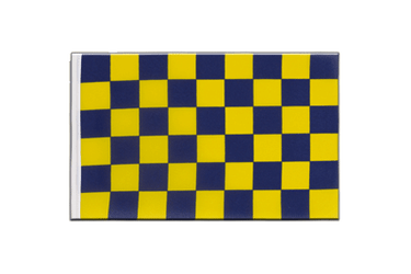 Checkered Blue-Yellow - Little Flag 6x9""