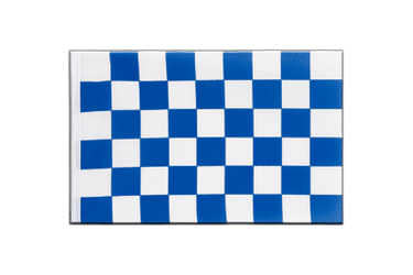 Checkered blue-white Little Flag 6x9""