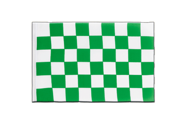 Checkered Green-White Little Flag 6x9""