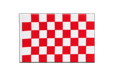 Checkered Red-White Little Flag 6x9""