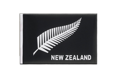New Zealand feather all blacks Little Flag 6x9""