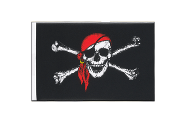 Pirate with bandana Little Flag 6x9""