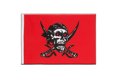 Fanion Pirate rouge 15 x 22 cm