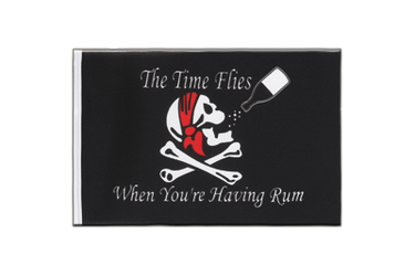 Pirat The Time Flies When You are Having Rum Minifahne 15 x 22 cm