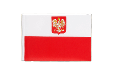 Poland with eagle Little Flag 6x9""