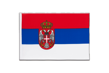 Serbia with crest Little Flag 6x9""