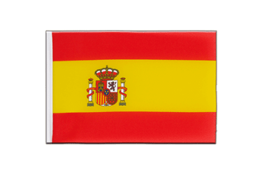 Spain with crest Little Flag 6x9""