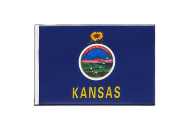 Kansas - Little Flag 6x9""