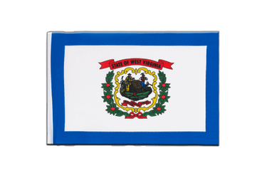 West Virginia Little Flag 6x9""