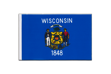 Wisconsin Little Flag 6x9""