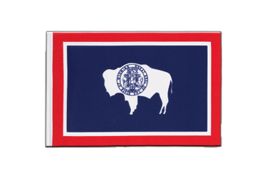 Wyoming - Little Flag 6x9""