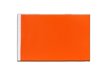 Orange Drapeau en satin 15 x 22 cm