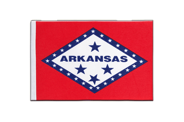 Drapeau en satin Arkansas - 15 x 22 cm