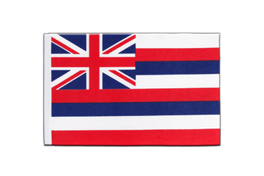 Hawaii Drapeau en satin 15 x 22 cm