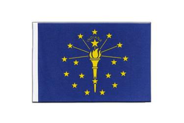 Indiana Satin Flag 6x9""