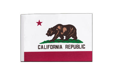Californie Drapeau en satin 15 x 22 cm