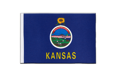 Kansas Satin Flag 6x9""