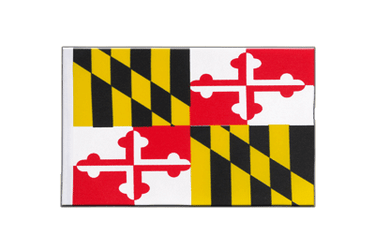 Drapeau en satin Maryland - 15 x 22 cm