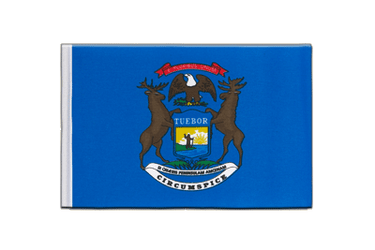 Michigan - Satin Flagge 15 x 22 cm