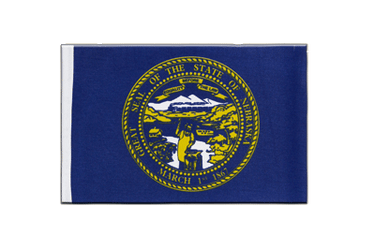 Nebraska - Satin Flag 6x9""