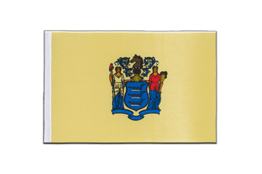 New Jersey - Satin Flag 6x9""