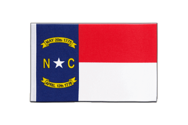 North Carolina Satin Flagge 15 x 22 cm