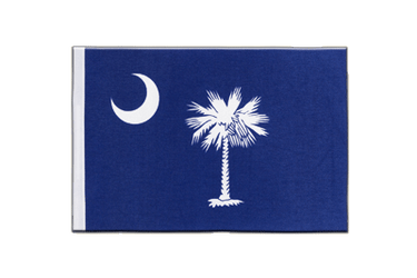 Drapeau en satin South Carolina - 15 x 22 cm