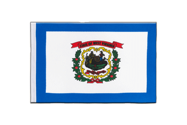 Drapeau en satin West Virginia 15 x 22 cm