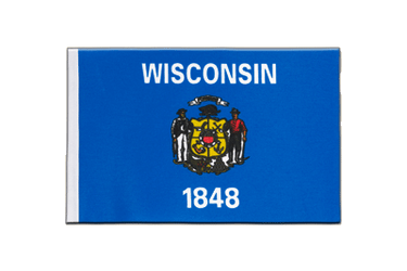 Wisconsin Satin Flag 6x9""