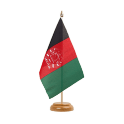 "Afghanistan Table Flag 6x9"", wooden"