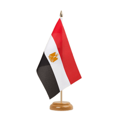 "Egypt - Table Flag 6x9"", wooden"