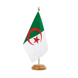 "Algeria Table Flag 6x9"", wooden"