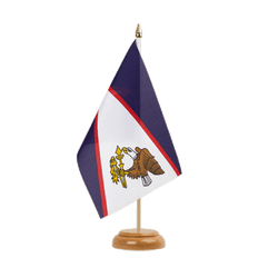 "American Samoa Table Flag 6x9"", wooden"