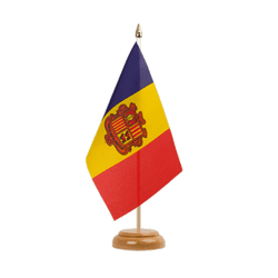 "Andorra Table Flag 6x9"", wooden"