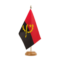"Angola Table Flag 6x9"", wooden"