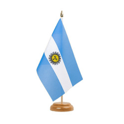 "Argentina Table Flag 6x9"", wooden"