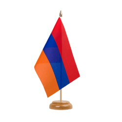 "Armenia Table Flag 6x9"", wooden"