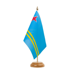 "Aruba Table Flag 6x9"", wooden"