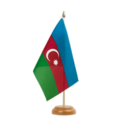 "Azerbaijan - Table Flag 6x9"", wooden"