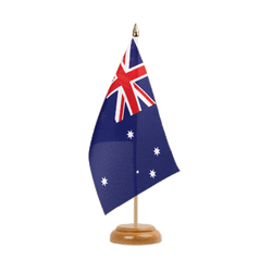 "Australia Table Flag 6x9"", wooden"