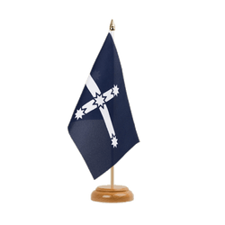 "Eureka 1854 Table Flag 6x9"", wooden"
