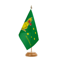 "Australia kangaroo Table Flag 6x9"", wooden"