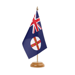 "New South Wales Table Flag 6x9"", wooden"