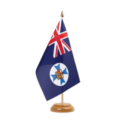 "Queensland Table Flag 6x9"", wooden"