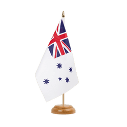 Drapeau de table Royal Australian Navy - 15 x 22 cm, bois