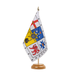 "Australia Royal Standard Table Flag 6x9"", wooden"
