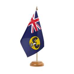 Drapeau de table Australie South 15 x 22 cm, bois